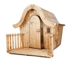 The Bendy House ($3,000): Lovingly handmade, this cute cedar and redwood playhouse comes from Woodlands Toys ready to assemble on a prepared flat surface.  Source: Woodlands Toys
