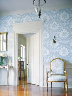 Everyone needs a solitary chair in an elegantly wallpapered room of generous proportions.  Wouldn't you agree?