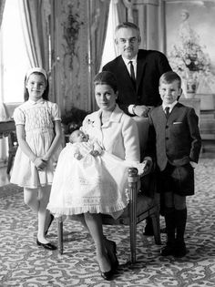 Grace & Family: Official portrait of the Princely Family of Monaco by Howell Conant. March 1965.