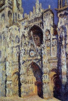 Monet's Rouen Cathedral (?) time lapse paintings