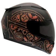 I saw a guy with this helmet at the MVD the other day. MY HEART                                                                                                                                                                                 More Motorcycle Helmet Design, Steampunk Motorcycle, Bicycle Helmet, Bike Helmets, Cycling Helmet, Motorcycle Equipment, Full Face Motorcycle Helmets, Full Face Helmets, Riding Helmets