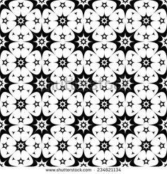 Seamless pattern: curved stars