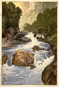 Kurobe River by Hiroshi Yoshida, 1926