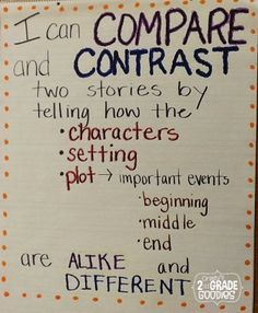 Comparing and Contrasting Stories