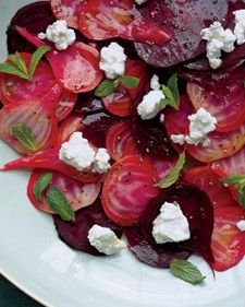 Change up this recipe by using half olive oil and half walnut oil, and top the beets with tossed walnuts. You can also use a mixture of beets such as Chioggia, golden, and red.