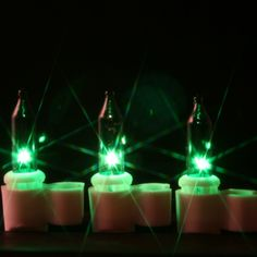 50 green mini lights with clips 316 inch white wire green christmas lights