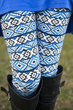 Blue Diamond Aztec Leggings $21.99__ Check out our site now!