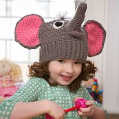 Elephant Hat (Free Pattern) http://www.redheart.com/files/patterns/pdf/LW4192.pdf