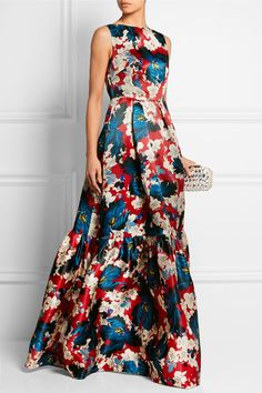 Erdem | Alouette printed silk-gazar gown | NET-A-PORTER.COM
