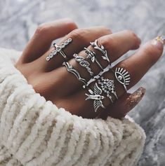 Punk Bee and Devil Eyes Layer Ring Midi Ring Set 9 Pack RING , Midi Rings , Vintage Rings , Travel Rings , Party Rings , Bohemian Rings , Rings Set , Layering Ring Gold Knot Ring, Branch Ring, Bohemian Rings, Bohemian Style, Rose Gold Engagement Ring, Wedding Ring, Pink Sapphire, Unique Rings, Fine Jewelry