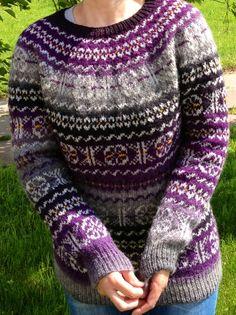 Fair Isle sweater Violet sweater Multicolour sweater Hand made sweater Made to order Fair Isle Knitting Patterns, Fair Isle Pattern, Knit Patterns, Clothing Patterns, Fair Isles, Sweater Making, Knitting Projects, Hand Knitting, Knitwear