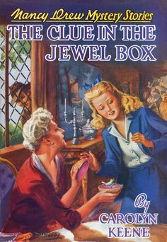 The Clue in the Jewel Box (Nancy Drew by Carolyn Keene, Mildred Benson… Nancy Drew Mystery Stories, Nancy Drew Mysteries, Cozy Mysteries, Vintage Book Covers, Vintage Children's Books, Vintage Postcards, Lauren Bacall, Detective, Books To Read