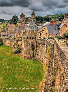 Fairytale Castle in Brittany. Chateau de Fougeres, (medieval).