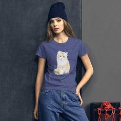 Red Cat Women's short sleeve t-shirt base trend Anvil Tshirt 880 Women's Shirt Funny Womens Tee Gift For Her kitten animal Black Friday sale Red Cat, Black Friday, Gifts For Her, Kitten, Base, T Shirts For Women, Animal, Trending Outfits, Sleeve