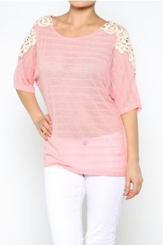 Lightweight Crochet Knitted Top. Perfect for any season!