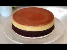 Caramel Pudding With Chocolate Cake 焦糖布丁巧克力蛋糕 Fancy Desserts, Asian Desserts, No Cook Desserts, Pudding Au Caramel, Chocolate Pudding Cake, Puding Cake, Condensed Milk Desserts, African Dessert, Chocolates