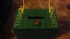 Football valentine box for boys!!!