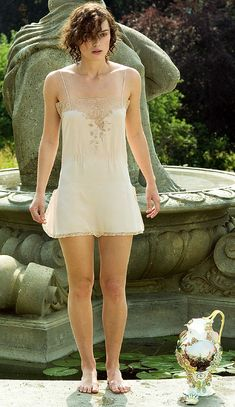 Keira Knightley in Atonement, wearing 1930's lingerie.