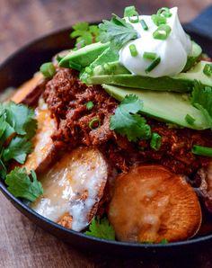 sweet potato chili cheese fries I howsweeteats.com