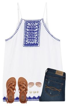 """""""Summer is almost here!"""" by ponyboysgirlfriend ❤ liked on Polyvore featuring MANGO, Abercrombie & Fitch, Billabong, H&M and Lord & Taylor"""