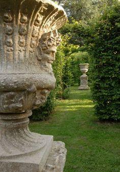 19th century Chateau de la Verrerie Gardens, Loira Valley, France