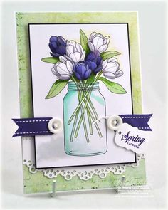 A Debbie Olson project ... love how debbie colored those tulips.