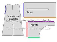 Gewand mit Kapuze http://www.gewandnaeherin.de/gewandnaeherinneu/pattern/gardecorps.html