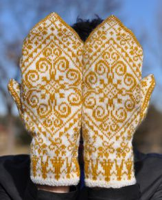 paper doll mittens paper doll mittens w/beautiful scroll design work from the little red hen Norwegian Knitting, Love Knitting, Fair Isle Knitting, Knitting Charts, Knitting Patterns, Mittens Pattern, Knit Mittens, Knitted Gloves, Knitting Socks