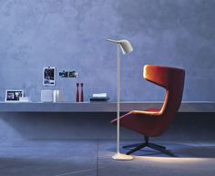 Contemporary Lighting | Colibri white floor lamp from Foscarini, designed by Odoardo Fioravanti.