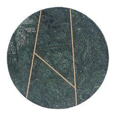 Plat rond trois lignes en marbre vert - House Doctor - Visuel 1
