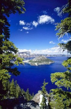 Crater Lake Art Print by Allan Seiden - Printscapes. All prints are professionally printed, packaged, and shipped within 3 - 4 business days. Choose from multiple sizes and hundreds of frame and mat options. Road Trip Usa, Crater Lake National Park, National Parks, Places To Travel, Places To See, Belle Photo, Vacation Spots, Travel Usa, Oregon Travel