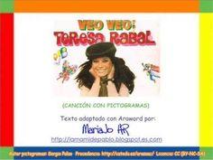 """VÍDEOS - """"Veo, veo"""".  Canción de Teresa Rabal, adaptada con pictogramas de ARASAAC y con el procesador AraWord."""