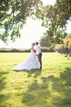 Maggie Sottero wedding dress, English barn wedding