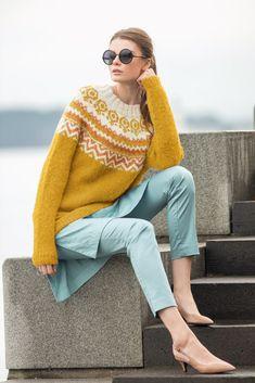 Knitwear, Bell Sleeve Top, Knitting, Yellow, Sweaters, Pattern, Store, Color, Women