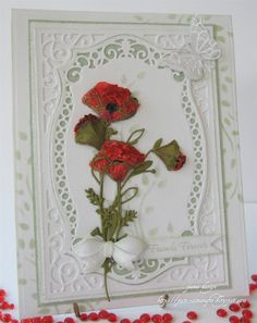 The flowers just MAKE this card - note tag with bow
