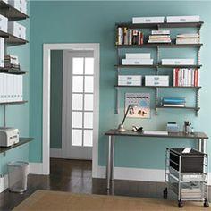 Wall Shelves As A Desk   Google Search | Organization And Household Stuff |  Pinterest | Desks, Shelves And Walls