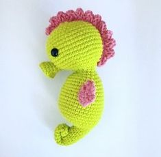 Baby Seahorse - free crochet pattern at Twistymates.