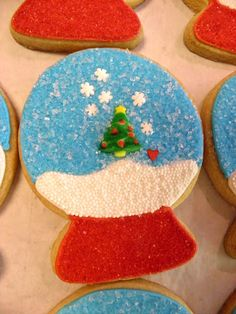 Snowglobe cookies...plus this site has lots of other ideas