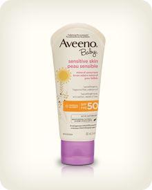 AVEENO® BABY® Sensitive Skin Sunscreen Lotion SPF 50   #bigbabybasketsweeps