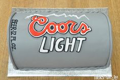Sculpted Coors Light Beer Can Cake by Beverly's Bakery