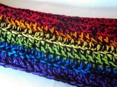 Dark Rainbow Scarf #howto #tutorial