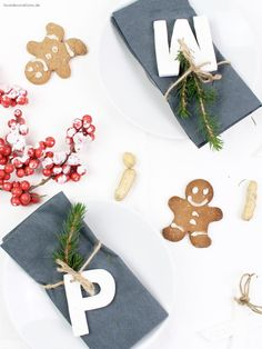 DIY Christmas Fimo Name Tag | DIY weihnachtliche Fimo Namensschilder
