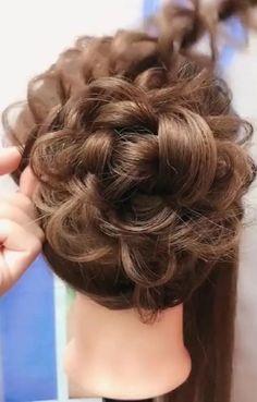 Hairdo For Long Hair, Long Hair Video, Bun Hairstyles For Long Hair, Headband Hairstyles, Front Hair Styles, Medium Hair Styles, Hair Style Vedio, Hair Tutorials For Medium Hair, Haircuts Straight Hair