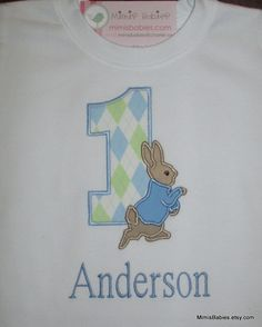 Sweet Peter Rabbit Birthday Shirt