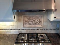 Decorative Tile Inserts Kitchen Backsplash White Carrera Marble Backsplash  Kitchen Countertops  Tile