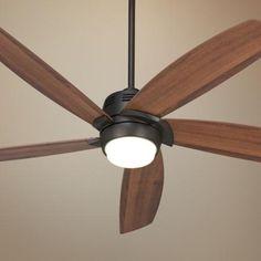 "V 56"" Casa Ecanto™ Oil-Rubbed Bronze LED Ceiling Fan integrated 17 watt LED."