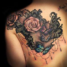 The Art House Tattoo Co. @krispatay #lacetattoo#butte...Instagram photo | Websta (Webstagram)