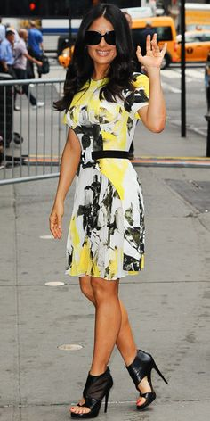 Look of the Day - July 12, 2013 - Salma Hayek in Christopher Kane from #InStyle
