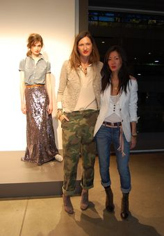 Jenna Lyons & Marissa Webb....more of my favourite camo with sparkle...