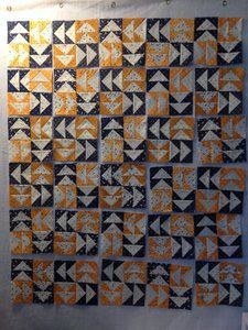 Penny Rose Fabrics Blog: Project Design Team Thursday ~ Indigo and Cheddar Flying Geese Quilt